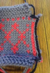 Crochet edge for steek