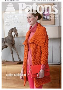 Patons ladies cable coat