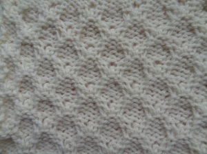 Back of bowknot stitch blocked