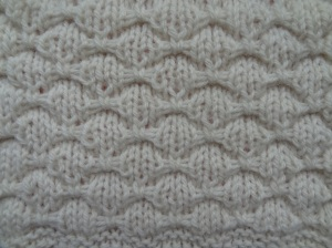 Bowknot stitch blocked