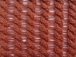 Long ladder nd cable stitch
