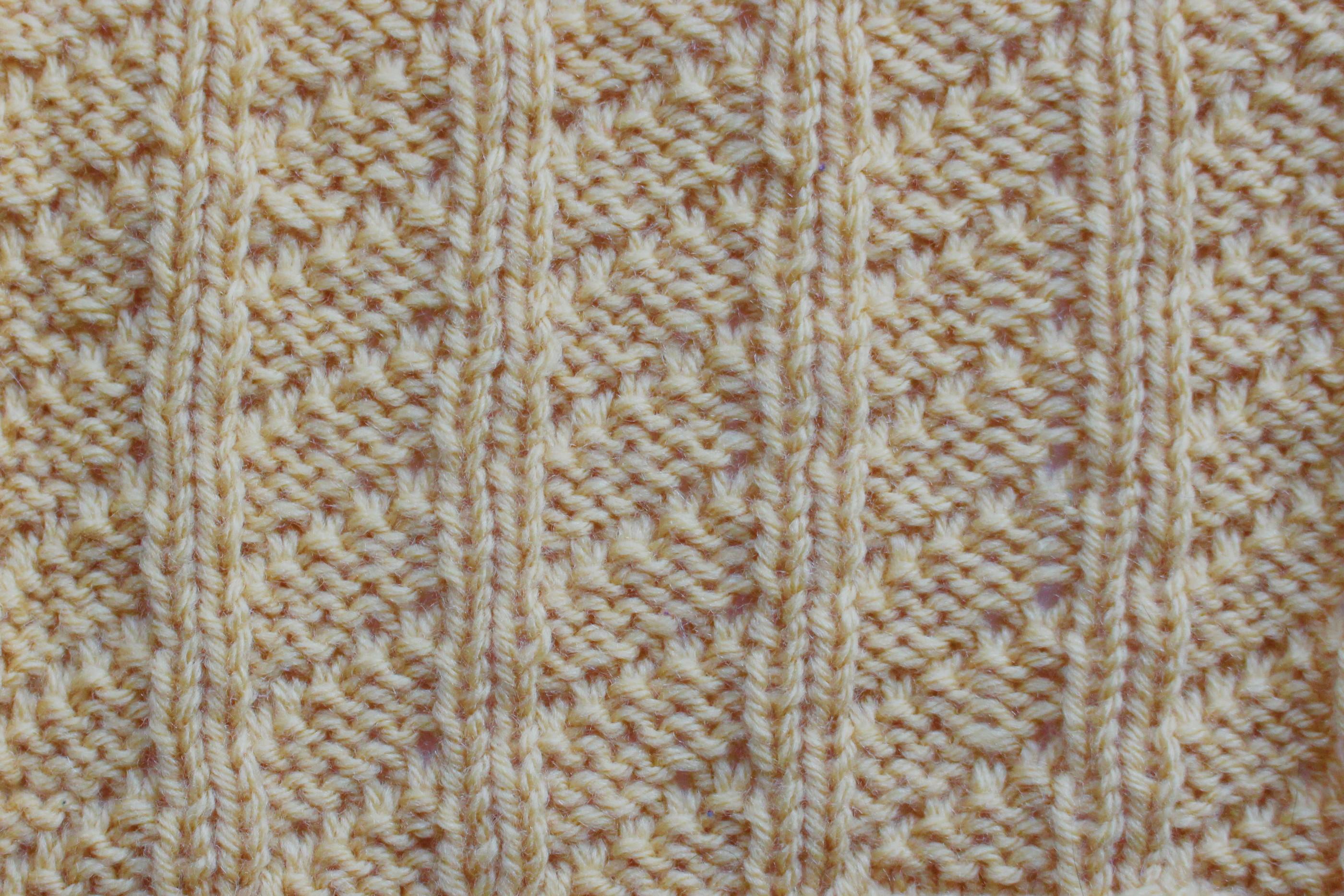 Knitting Stitches Sl1 Wyif : Sunday Stitches   Mock Cable and Snowflake Stitch jem arrowsmith knits