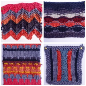 Knitted colour samples