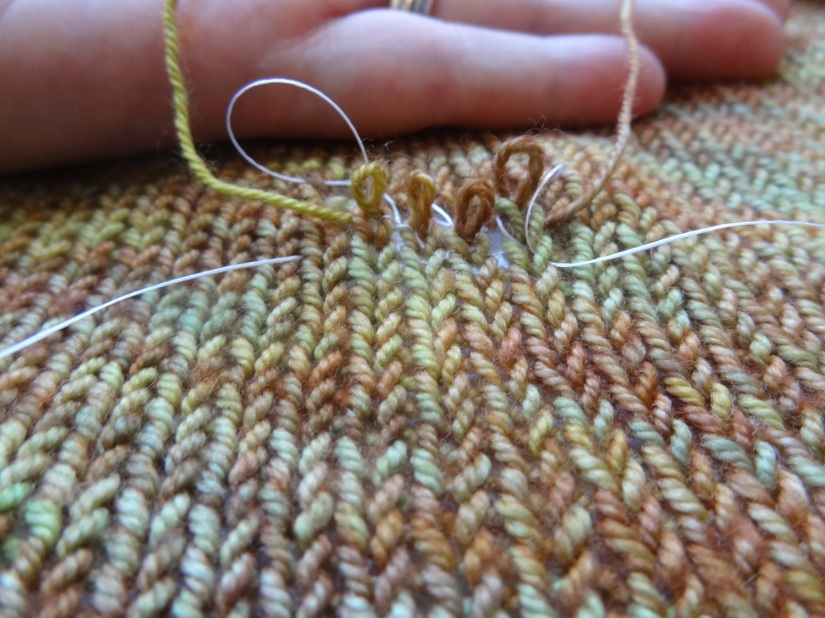 fixing knitting hole