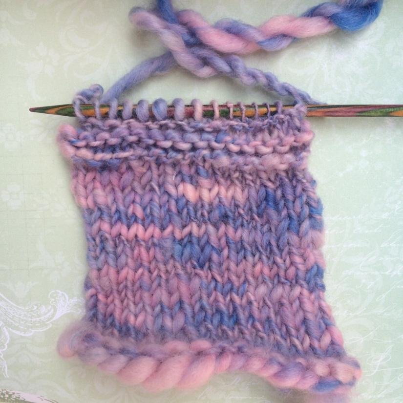 Knitted hand spun